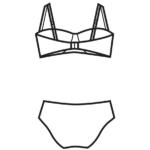 Szivacsos,pánt nélkül hordható bikini/102-578