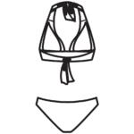 Marmaris kivehető szivacsos,háromszöges bikini/102-484
