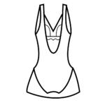 Szivacskosaras,alakformáló fürdőruha/101-581