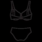Plus size bikini H-kosárig/102-600/9N