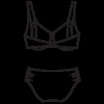 Plus size bikini H-kosárig/102-691/N