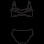 Pánt nélküli bikini/102-578