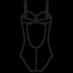 Rejtett merevítős fürdőruha/101-433