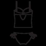 Szivacskosaras,merevítős tankini/102-674
