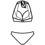 Nyakbakötős bikini/102-561