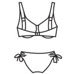 Merevítős,állítható bugyis bikini/102-499
