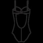 Szivacskosaras,merevítős fürdőruha/101-433